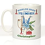 Personalised Plumber Drinking Name Drink Preferences Pipe Fixer Water Supply Drain Systems Mug by Personalised Gift Ideas