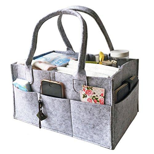 68dc013c341f HyFanStr Feltro Bambino Pannolino Caddy Organizzatore Salviette Bag Nursary  Storage Bin grigio chiaro
