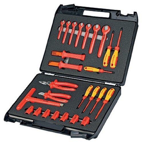Knipex 98 99 12 Standardkoffer 26-teilig mit isolierten Werkzeugen