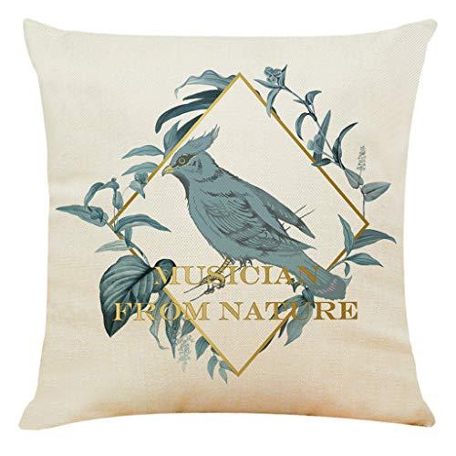 Precioul Kissenbezüge aus Baumwolle Leinen Zierkissenbezüge Blätter Muster für Wohnzimmer Schlafzimmer Natur, Taube - Cafe Stuhl Aufblasbare