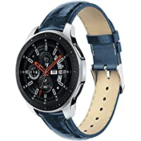 """samLIKE Pulsera de Piel para Samsung Galaxy Watch 46mm–Ajustable Brazalete Deportivo Suave Piel para Pulsera para Hombre y Mujer, 5.5""""DE 8.1, 5Colores, Color �� Blau"""