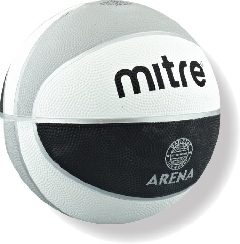 Mitre Arena Training Basketball - Black/White/Silver
