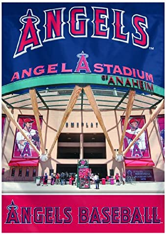 MLB Anaheim Angels Two Sided Stadium View Vertical Banner, 28 x 40-Inch