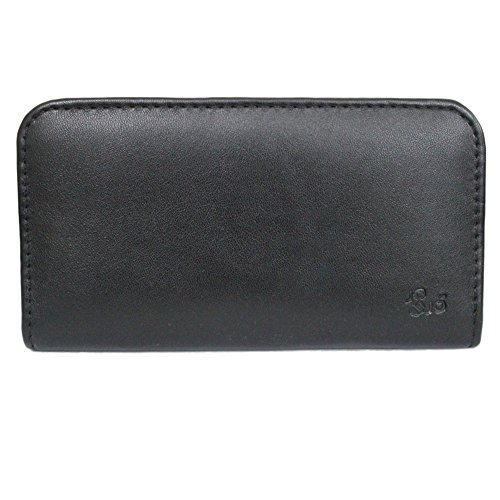 Jo Jo A3 Rich Leather Soft Carry Case Mobile Hand Pouch Cover Holder For Panasonic P81 Black
