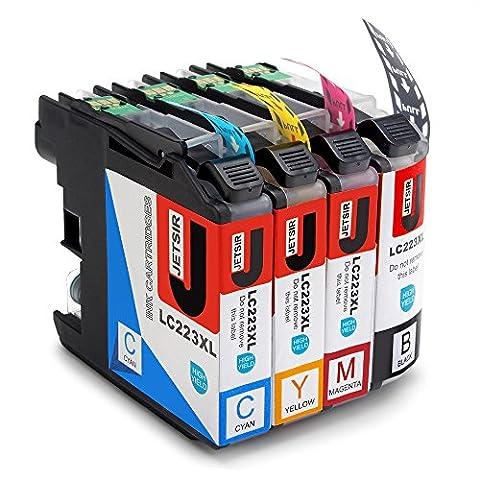JETSIR Kompatibel Druckerpatronen Ersatz für Brother LC223 XL, Hohe Ergiebigkeit