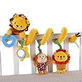 Happy cherry - Juguetes Colgantes Espiral de Animales para Cuna Cochecito Carrito bebés niños niñas arrastrar - amarillo