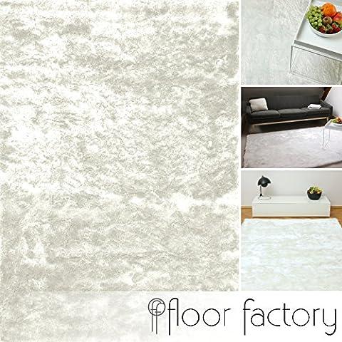 Tapis 160 X 160 Blanc - Tapis de salon Satin blanc 160x230 cm