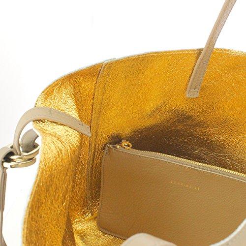Coccinelle Da Donna C1 Yi5 Di Cui 110201 Shopper E Tracolla, 15x29x21 Cm Taupe -o