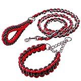 Cradifisho XQ Seil für Hunde, Eisenkette, Zugseil für große Hunde, Rot