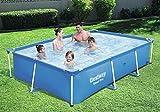 Bestway Steel Pro2 Frame rechteckig Pool mit 2300 L Fassunsgvermögen, ohne Pumpe, blau, 259 x 170 x 61 cm, Garten Pool, Swimmingpool, Schwimmbecken