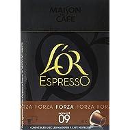 L'OR ESPRESSO Forza 10 capsules de café compatibles avec les machines à café Nespresso - Lot de 4 (40 capsules)