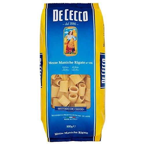 De Cecco Pasta Mezze Maniche Rigate n.136 - 500 gr