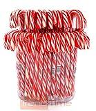 48 XL große Zuckerstangen Candy Canes Süßigkeit essbare Weihnachts-Dekoration Rot/Weiss Trend Time®