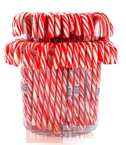 12 Candy Canes Zuckerstangen Zucker Stöcke einzeln in Folie Trend-Time ® ROT/WEISS