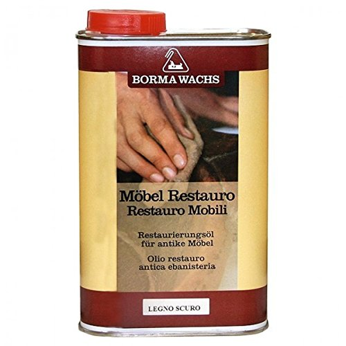 Ellas-Wohnwelt Restaurierung Möbel aufarbeiten Öl Reinigung von Borma im Farbton Mahagoni 500 ml Restauro
