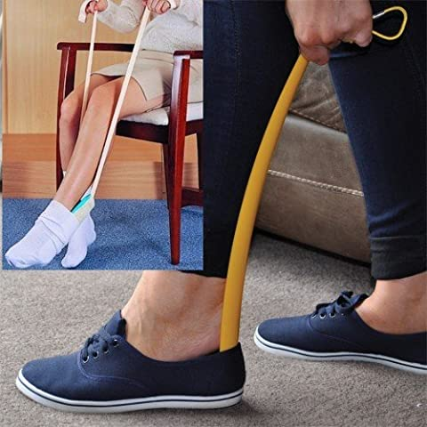 Sock Aid & Shoe Horn (Hip Kit) – Makes Great Aid for the Elderly, Overweight, and Pregnant Women Putting Shoes and Socks On and Off Easier