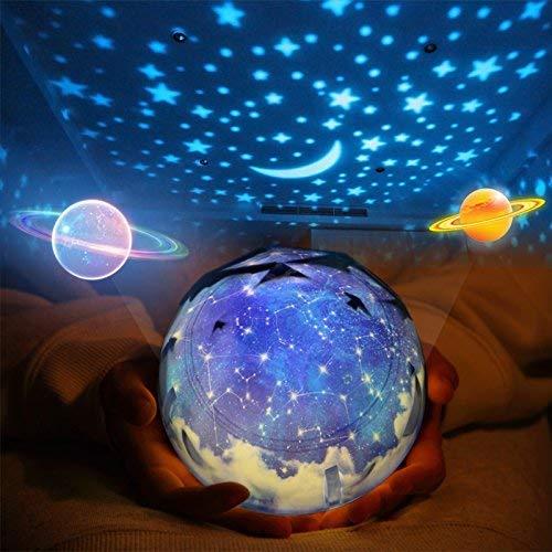 Sterne Nachtlicht Projektor Lampe Kind, Arfbear Romantische Sternennacht Universum Licht Projektorlampe für Zuhause Party Geburtstag Dekorationen Kinder Geschenk Spielzeug Schlafzimmer Wohnzimmer