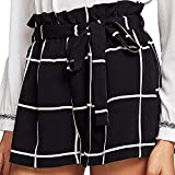 ❤️ Women Pocket Trousers, PANPANY Ladies Sales Summer Casual Lace Beach Shorts Sexy Drawstring Strappy Pants Mid Waist Loose Stripe Hot Pant Swim Shorts (M, Black1)