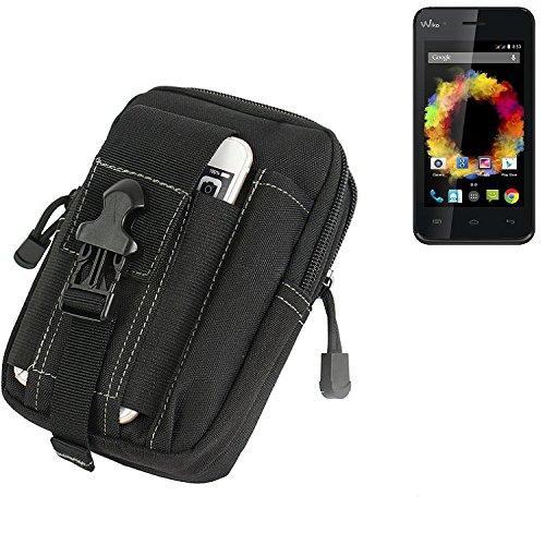 K-S-Trade Gürtel Tasche für Caterpillar Cat B25 Gürteltasche Schutzhülle Handy Hülle Smartphone Outdoor Handyhülle schwarz Zusatzfächer