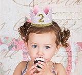 Best Corazón a corazón 1 regalos de cumpleaños años - Diadema de cumpleaños para niña de 2 años Review