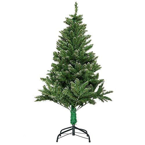 Aufun Künstlich Weihnachtsbaum 210cm Künstlicher Weinachts Baum Deko Tannenbaum Grün PVC mit Schnee-Effekt mit Metallständer ca. 960 Spitzen Lena Weihnachtsdeko -