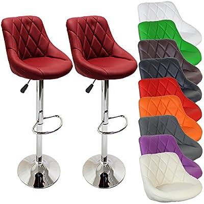 2er Set Bar Stool Barstool Kitchen Lounge | 10 colors