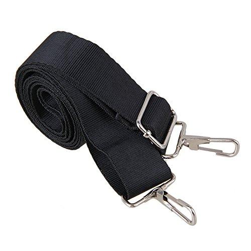 bqlzr 150x 3,2cm Schwarz verstellbaren Polyester Single Tasche Schultergurt mit Dual-Metall Haken Quick Release für Nachricht Tasche Laptop Bag Handtasche (Quick-release-single)