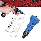 Nietpistole für Akku-Bohrschrauber Elektro, Nietmutternpistole Nietwerkzeug Akku-Nietpinzette Adaptereinsatz Mutterwerkzeug