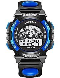 VICVIO Relojes Deportivos Impermeable para los Niños/Niñas Reloj de Pulsera Digital a Prueba de Agua Infantiles Azul