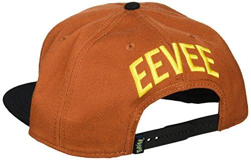 Pokemon-Embroidered-Eevee-Color-Block-Snapback-Gorra-De-Bisbol