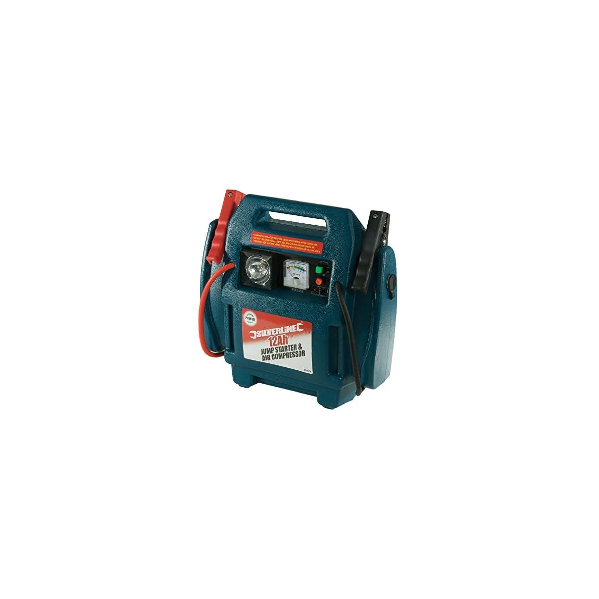 512j26s%2B%2BeL. SS1200  - Silverline 234578 - Arrancador de emergencia y compresor de aire (12 Ah)
