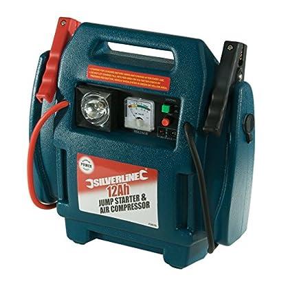 512j26s%2B%2BeL. SS416  - Silverline 234578 - Arrancador de emergencia y compresor de aire (12 Ah)