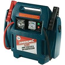 Silverline 234578 - Arrancador de emergencia y compresor de aire (12 Ah)