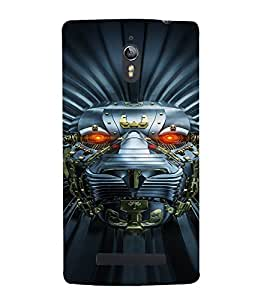 PrintVisa Metallic Lion Robot 3D Hard Polycarbonate Designer Back Case Cover for Oppo Find 7