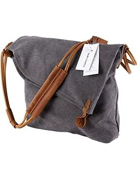 FAIRY COUPLE Canvas Unisex Tasche retro literarischen Hochschule Stil Schultertasche Messenger Bag koreanische...