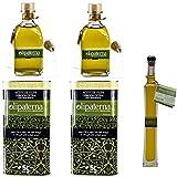 Kaltgepresstes Extra Natives (Virgin) Olivenöl aus Andalusien Olipaterna Säure 0,3 1A | 100% natürliches & reines Olivenöl für Feinschmecker | 2 Stück 5 L Kanister + 2 Stück 250 ml Glas + 100 ml Glas