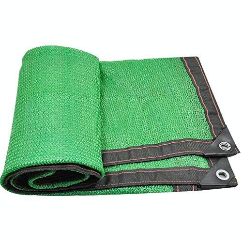 CUUYQ Sunblock Shade Net Cloth, mit ÖSen Schattierungsnetz Sonnensegel Rechteck Sunblock Schatten Segel füR Terrassen Sonnenschutz Segel Tuch Sommerabdeckung,Green_3x6m/9x18ft