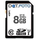 Dot.Foto Scheda di Memoria Alta velocità SDHC da 8 GB, fino a 80 MB/sec, Classe 10 UHS-1 per Fujifilm FinePix S3350   S3380   S3400   S3450   S4000   S4050   S4080   S4200   S4240   S4300   S4400   S4500   S4530   S4600   S4700   S4800   S4900   S5700   S5800   S6600   S6630   S6650   S6700   S6750   S6800   S6830   S6850   S8000fd   S8100fd   S8200   S8300   S8400   S8400W   S8500   S8600   S8630   S8650   S8660   S9150   S9200   S9250   S9400W   S9450W   S9700   S9800   S9900W