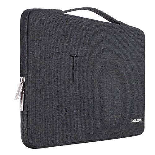 MOSISO Laptop Multifunktion Aktentasche Handtasche Kompatibel 2018 MacBook Air 13 A1932, Neu MacBook Pro 13 Zoll A1989&A1706&A1708 2018/2017/2016, Surface Pro 6/5/4/3 Polyester Hülle, Space Grau