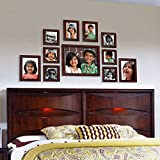 #6: Ajanta Royal Classic set of 11 Individual Photo Frames (6-4x4, 2-4x6, 2-5x7 & 1-8x10) : A-73B (Brown)