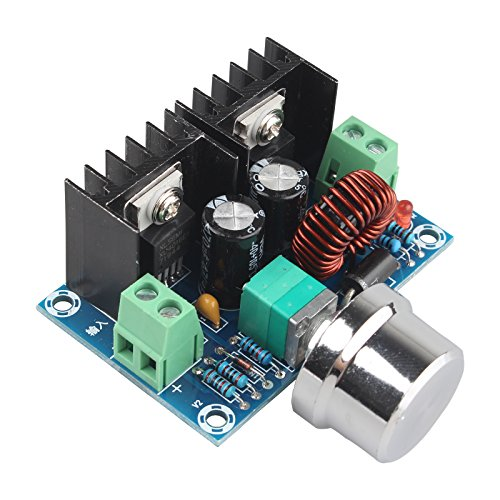 HALJIA xl4016e1 DC 4-40V zu DC 1,25-36V 8A Buck Converter Spannungsregler 36V 24V 12V bis 5V High Power Effizienz Step Down Converter Netzteil, mit verstellbarer Knopf, für Auto Audio LED Display - High Current Car Audio