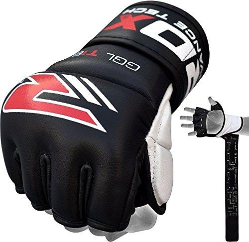 RDX MMA Rindsleder Handschuhe UFC Sparring Kampfsport Sandsackhandschuhe Grappling Trainingshandschuhe Abbildung 2
