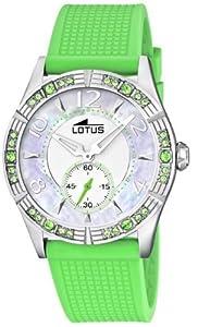 Reloj analógico Lotus 15737-5 de cuarzo para mujer con correa de plástico, color verde