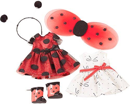 (Götz 3402963 Ladybug - Sommer-Set für Deine Just-Like-me Puppe - Bekleidungsset für Stehpuppen XS mit Einer Größe von 27 cm)