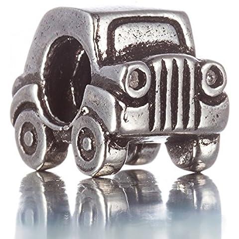 ISHOW Cupronickel Jeep Charm pulseras accesorios coche DIY encanto Fine Compatible con adornos