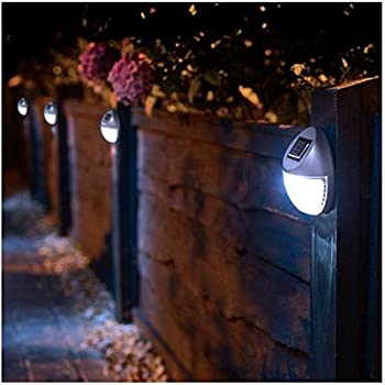 Awesome 8 Solar Powered LED Fence Lights Outdoor Wall Garden Door Lighting Shed  Path New