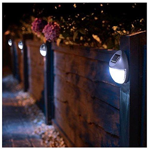 8 Solar Betriebene LED Zaun Leuchten Außen Wand Garten Weg Tür ...