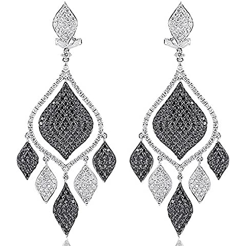 4.87carati diamanti lampadario orecchini oro bianco