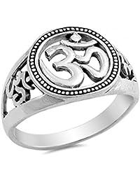 925 Sterling Silver OM Sign Ring