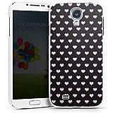 Samsung Galaxy S4 Hülle Schutz Hard Case Cover Herzen Pink Muster